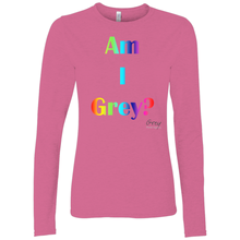 Load image into Gallery viewer, Am I Grey? Long Sleeve Shirt Rainbow