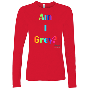 Am I Grey? Long Sleeve Shirt Rainbow