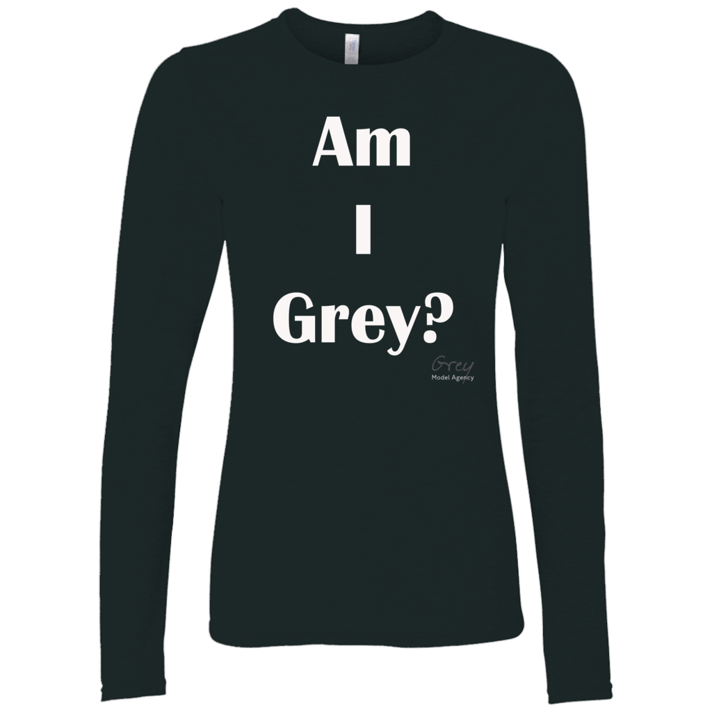 Am I Grey? Long Sleeve Shirt white