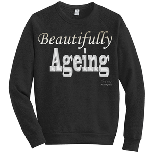Beautifully Ageing Fleece Sweatshirt Gold/Silver