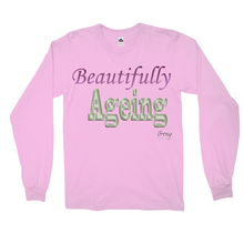 Load image into Gallery viewer, Beautifully Ageing Long Sleeve Shirt Purple/Green