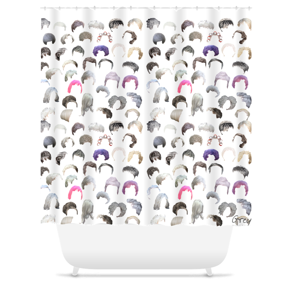 Crowd Grey Shower Curtain 71x74 inch