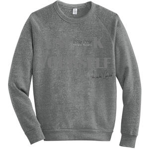 UNF**K YOURSELF Fleece Sweatshirt GREY - Amanda Cazalet