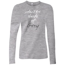 Load image into Gallery viewer, Whiter Shade Of Grey Long Sleeve T-Shirt White w/Back Design