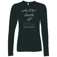 Load image into Gallery viewer, Whiter Shade Of Grey Long Sleeve T-Shirt Grey w/Back Design