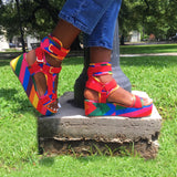 MIA Red Rainbow Multi - ShoeNami