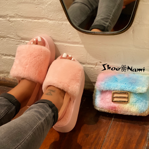 FLUFF CLUTCH Cotton Candy - ShoeNami