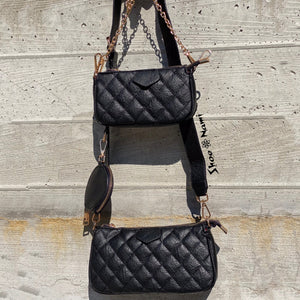 THREE WAY PURSE Black - ShoeNami