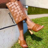 LATTICE PURSE Tan - ShoeNami