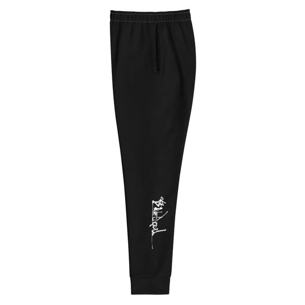 Black Joggers - Womens Style - Urban Print Unique Street-wear by Blueblood Collection