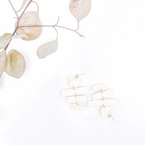 Haley Marbled Driftwood Dangles
