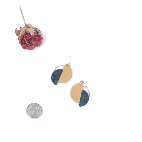 Zoe Half Circle Geometric Earrings