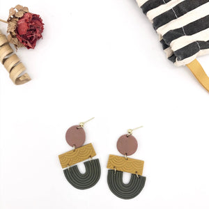 Sawyer Three-Tiered Geometric Earrings