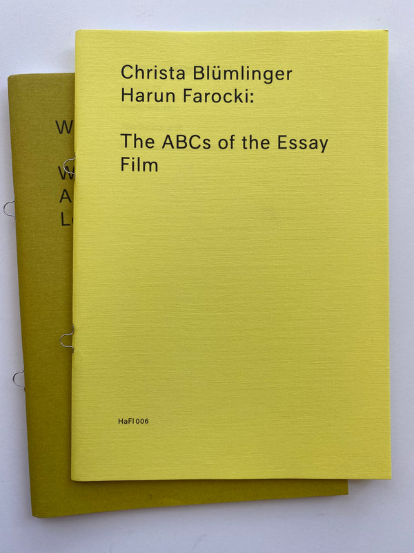 HaFI006 - Christa Blümlinger/Harun Farocki: The ABCs of the Essay Film