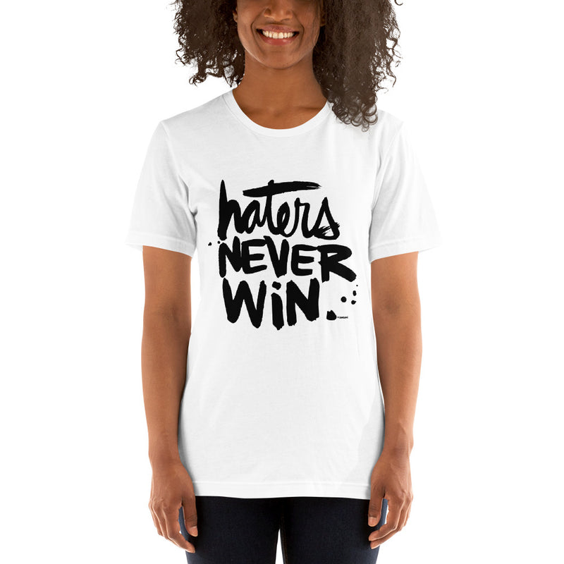 Haters Never Win | White Tee