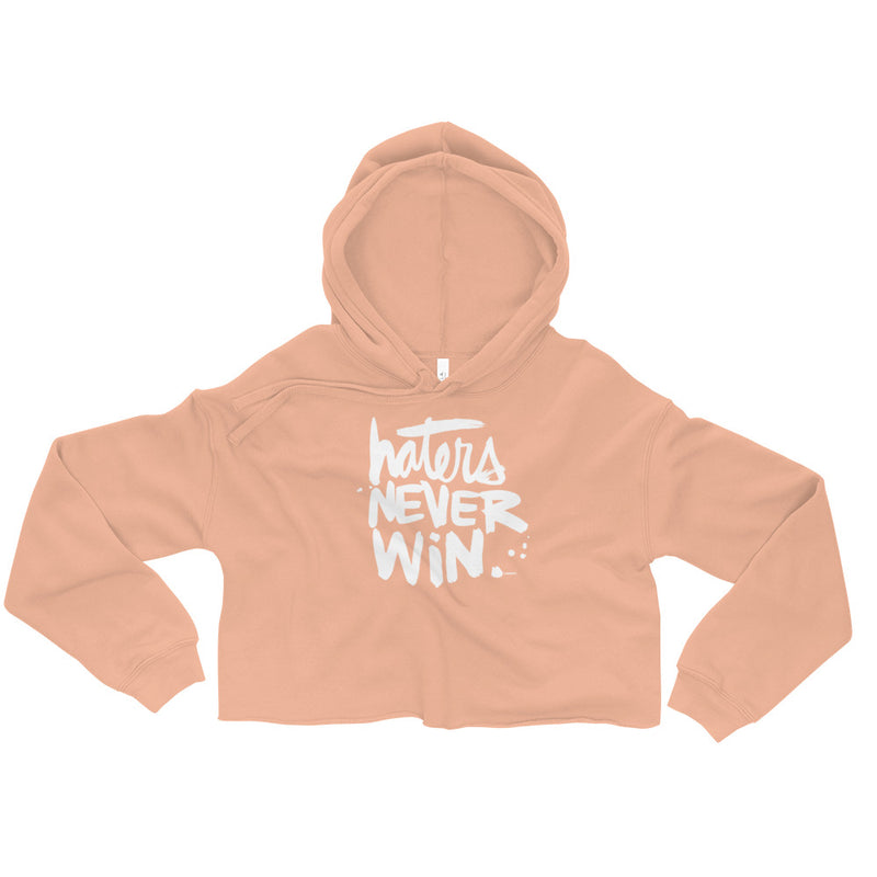 Haters Never Win | Crop Hoodie