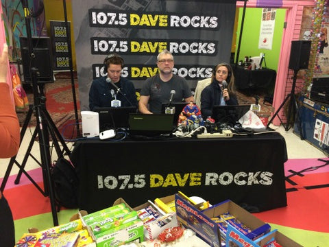 107.5 daverocks at candy funhouse