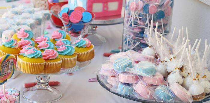 Pink Candy Buffet theme for baby shower