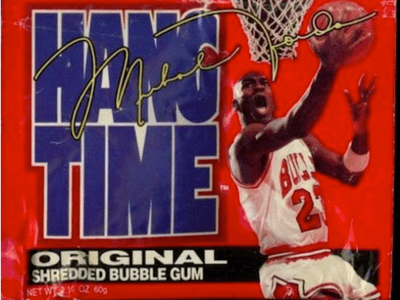 Big League Chew Bubble Gum Hang Time Michael Jordan