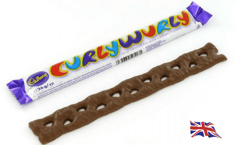 Cadbury Curly Wurly Bar-Top 10 British Chocolate Bars
