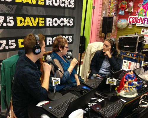 #CBridgeClash with DaveRocks 107.5 announcing winner at CandyFunhouse.ca