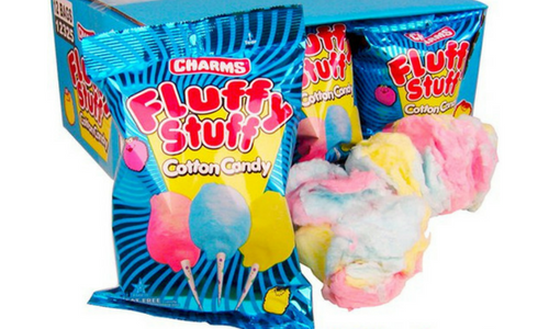 Charms Fluffy Stuff Cotton Candy-Top 30 Candies of All Time