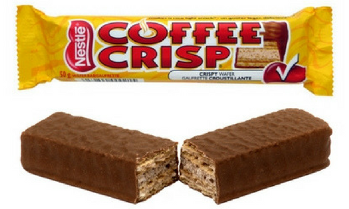Nestle Coffee Crisp Top 20 Canadian Chocolate Candy Bar