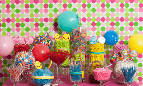 Consider the theme for your Candy Buffet-Bulk-Candy
