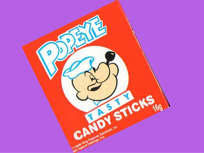 Popeye Candy Sticks Old Fashioned Candy