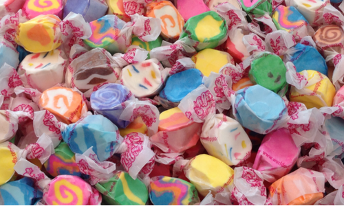 Salt Water Taffy comes in many flavours and colours