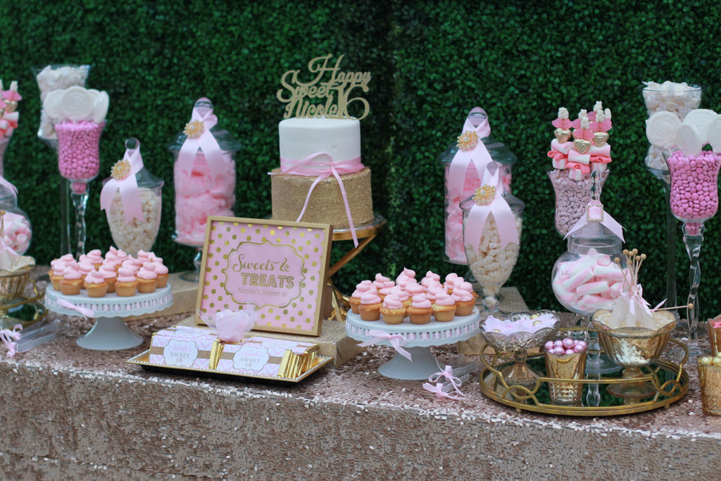 sweet sixteen candy buffet theme
