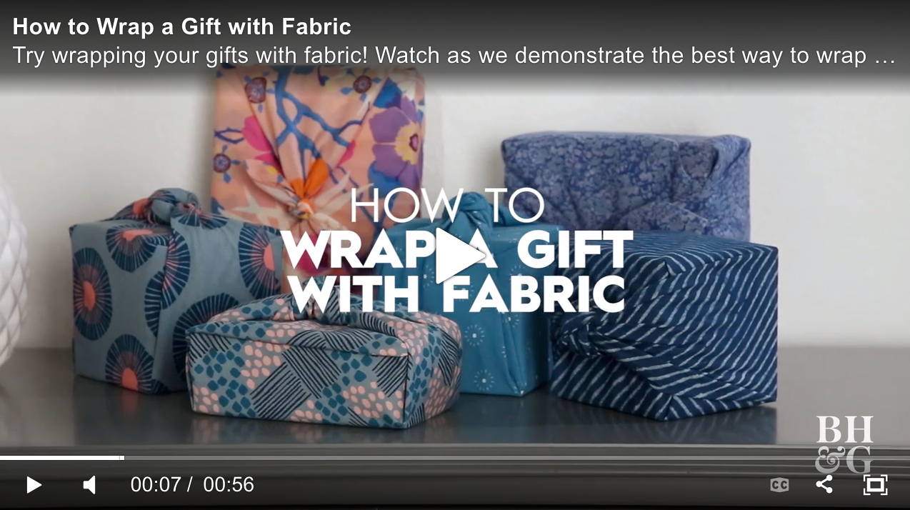 fabric wrapping gift