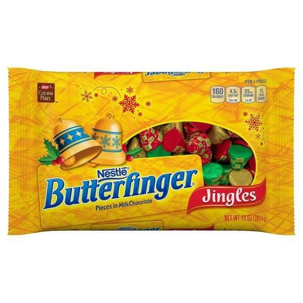 Butterfinger Jingles Nestle 320g - Christmas Candy Colour_Assorted Retro Type_Chocolate Type_Retro