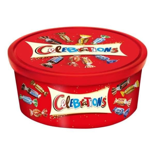 Celebrations 8 Famous Brands Tub - UK Mars 700g - British Christmas Candy Colour_Red Origin_British Type_Chocolate