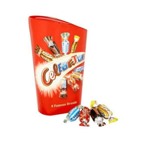 Celebrations 8 Famous Brands - UK Mars 400g - British Christmas Candy Colour_Red Origin_British Sweet Deal