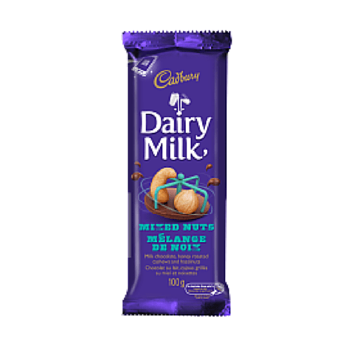 Dairy Milk Mixed Nuts Milk Chocolate Bar Cadbury Canada