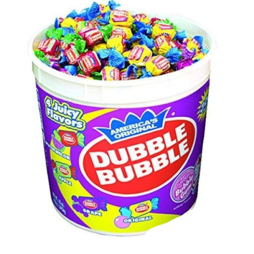 Dubble Bubble 5 Assorted Flavors Tub-380 Pieces Concord Confections Ltd 2.7kg - Bubble Gum Canadian Canadian Candy Colour_Assorted Dubble