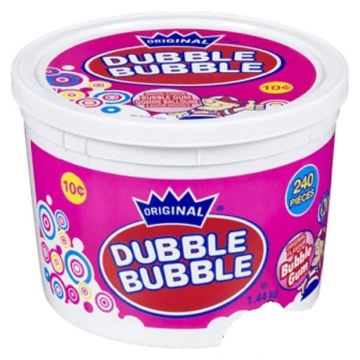 Dubble Bubble with Comics Tub-240 Pieces Concord Confections Ltd 2kg - Bubble Gum Bulk Colour_Pink Dubble Bubble Gum Gluten Free