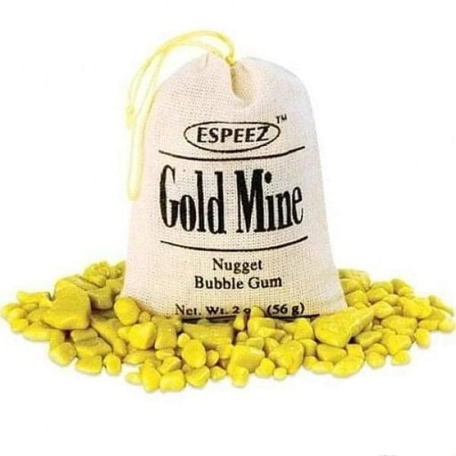 Gold Mine Gum Espeez 0.056kg - 1920s Bubble Gum Christmas Stocking Stuffers Era_1920s gold