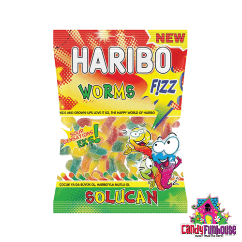 Haribo Worms Fizz - Gummies