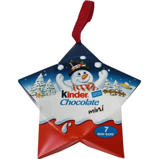 Kinder Hanging Stars Chocolate Ferrero 50g - British christmas Colour_Assorted Novelty Origin_British