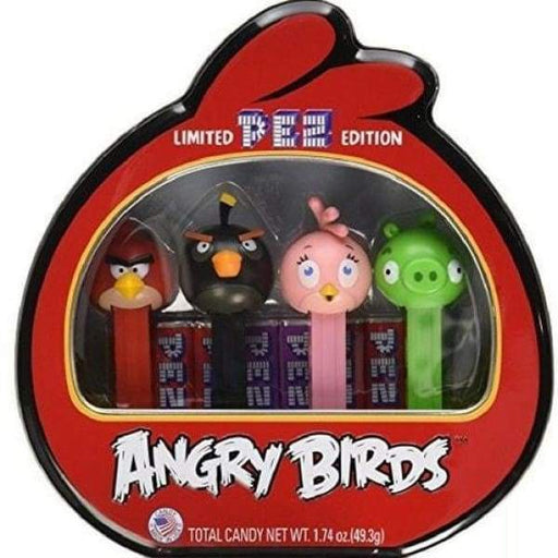 PEZ Collections-Angry Birds Tin Gift Set Pez 0.25kg - collectible Novelty pez Retro scooby-doo