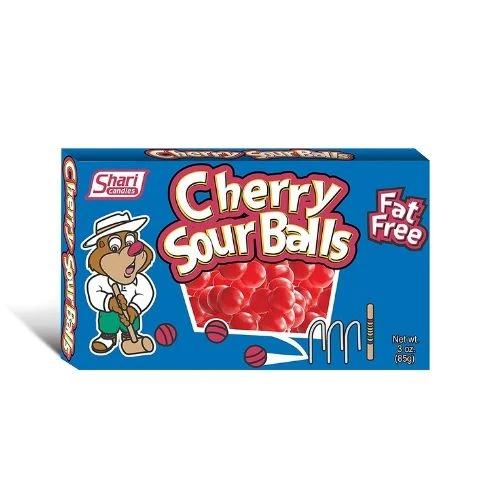Cherry Sour Balls Theatre Pack Retro Candy