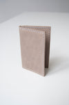 front open view of the shade wallet in taupe leather