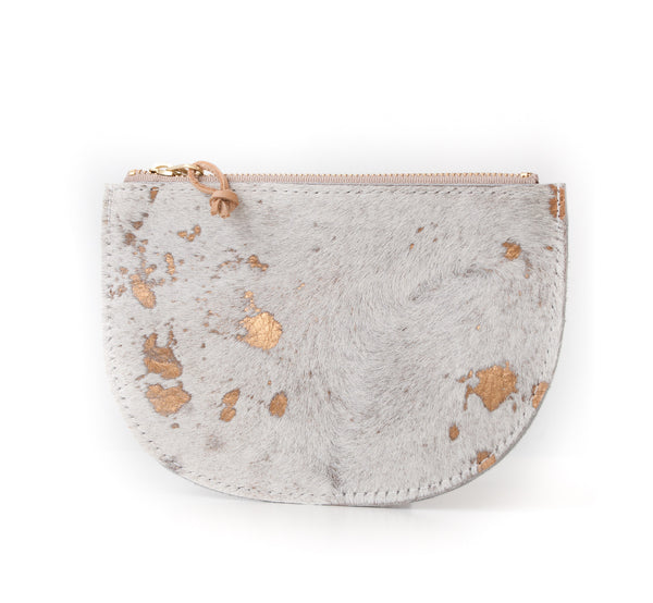 Half Moon Pouch - Gold Cowhide