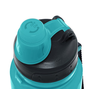Nomader Collapsible Water Bottle (Aqua Blue) - 2 pack