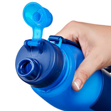 Load image into Gallery viewer, Nomader Collapsible Water Bottle (Vibrant Blue) - 2 pack