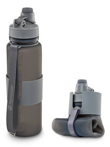 Nomader Collapsible Water Bottle (Cool Gray) - 2 pack
