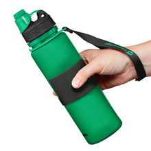 Load image into Gallery viewer, Nomader Collapsible Water Bottle (Green) - 2 pack