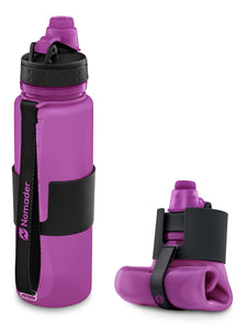 Nomader Collapsible Water Bottle (Purple) - 2 pack